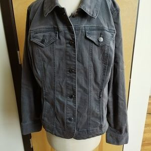 Gray stretch denim jacket